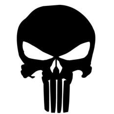 Novel Punisher Kepala Tengkorak Skeleton Pola Car Cover Sticker Tahan Air Outdoor Window Reflektif SH-