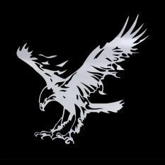 Kualitas O Pola Eagle Bahan Reflektif Stiker Kap Mesin Mobil Stiker Lambang Putih Not Specified