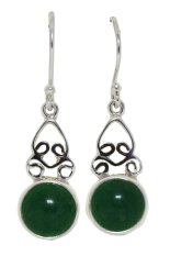 Harga Obriva Silver Earrings Green Stone Origin