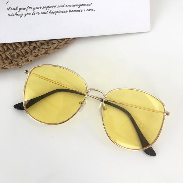 Ocean Korea Fashion Style Transparan Pria Dan Wanita Terlihat Langsing Kacamata Hitam Kaca Mata