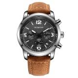Ulasan Tentang Ochstin Mens Fashion Genuine Leather Strap Sport Wrist Watches 321502 Warna Sebagai Gambar Pertama Intl