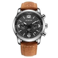 Ochstin Mens Fashion Genuine Leather Strap Sport Wrist Watches 321502 Warna Sebagai Gambar Pertama Intl Di Tiongkok