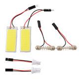 Beli Oem 2X Hid Bright 36 Cob Lampu Panel Led Untuk Review Mobil Auto Interior Membaca Putih Lampu Terbaru