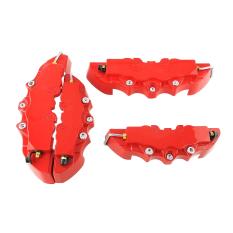 Jual Oem 4 Buah 3D Brembo Mobil Universal Kaliper Rem Cakram Depan Dan Belakang Sampul Merah Baru