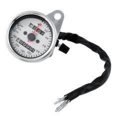 Spek Oem Krom Motor Dual Speedometer Gauge Led Backlight Latar Belakang Putih