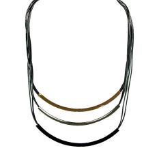 Rp 15.700. Ofashion Aksesoris Kalung XX-CA-1703K054 Xuping Jewelery Necklace Accessories 54 CM - Hitam ...