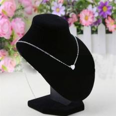 Oh Hitam Manekin Stan Pameran Perhiasan Kalung Pasangan Pemegang Menghias 16X14 Hitam Diskon Akhir Tahun