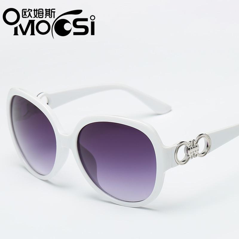 Ommosi Kacamata Hitam Wanita Bingkai Besar Retro Anti UV