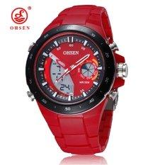 Harga Hemat Ohsen 2821 Cewek Jam Tangan For Gerakan Tunggal Wanita Merah Internasional