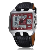 Spesifikasi Ohsen Ad0930 Fashion Digital Quartz Leather Band Pria Jam Tangan Merah Yg Baik