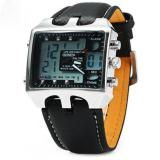 Beli Ohsen Ad0930 Men Sports Watches Fashion Military Digital Quartz Leather Band Waterproof Dive Clock Men S Watch Relogio Masculino Black Terbaru
