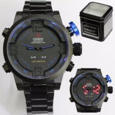 Harga Ohsen Jam Tangan Fashion Stainlessteel Black Blue Original