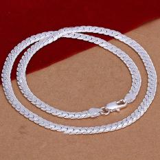 Ongkos Kirim Okdeals Adapula 5 Mm 925 Sterling Padat Perak Rantai Kalung 20 Inci Di Tiongkok