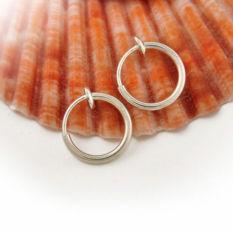 Okdeals Aksi Musim Semi Palsu Bebas Tindik Telinga Cincin Tulang Rawan Hidung (Silver)