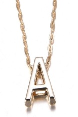 Diskon Besarokdeals Gold Plate Letter Name Initial Chain Pendant A Intl