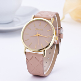 Iklan Okdeals Lady Kulit Band Analog Quartz Roman Wrist Watch Beige Intl