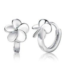 Spesifikasi Okdeals Wanita 925 Perak 925 Lucky Clover Flower Anting Tindik Telinga Lengkap