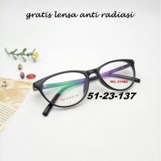Oki_Store Frame Kacamata Bella Cat Eye Normal /Baca / Plus / Minus / Cylinder Anti Radiasi Komputer