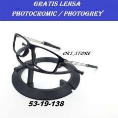 Oki_Store Frame Kacamata Sporty FULL Normal / Baca / Plus / Minus / Cylinder Photocromic / Photogrey / Anti Radiasi Komputer Berubah Warna