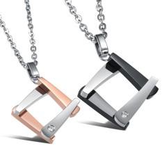 Olen Pasangan Titanium Steel Pendant Kalung (Ladies)