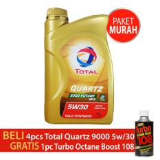 Oli Total Quartz 9000 future 5w/30 API SN kemasan 1 liter