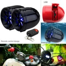 Satu Pasang 14 W Motor Tahan Air Anti-Theft MP3 Speaker Dukungan AUX-IN Audio Input dan USB/TF untuk Sepeda Motor dan Skuter-Intl