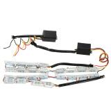 Spesifikasi Satu Sepasang Mobil Diy 12 Led Daytime Running Light 12 24 V Drl Turnsignal Lampu Kit Intl Oem