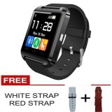 Harga Onix Cognos U Watch U8 Smartwatch Original Termasuk Box Hitam Gratis Strap Merah Putih Cognos Asli