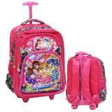 Harga Onlan Aikatsu 5D Timbul Hologram Tas Trolley Sd Ukuran 4 Kantung Besar Import Pink Original