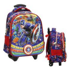 Spesifikasi Onlan Avengers Captain America Super Hero 5D Timbul Hologram Tas Trolley Anak Sekolah Tk Dua Kantung Import Dan Harganya