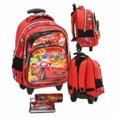 Harga Onlan Cars Mcqueen 5D Timbul Anti Gores Tas Trolley Ukuran Anak Sekolah Tk Import Dan Kotak Pensil Set Alat Tulis Red Paling Murah