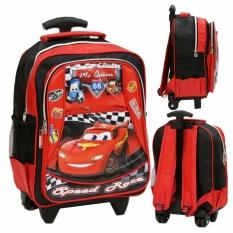 Harga Onlan Tas Trolley Anak Sekolah Tk Atau Pg Motif Cars Soft Timbul Red Satu Set