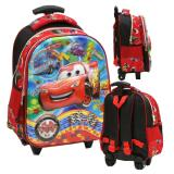 Iklan Onlan Cars Mcqueen 5D Timbul Tas Trolley Anak Tk Play Group Import Merah