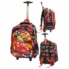 Jual Onlan Cars Mcqueen 5D Timbul Tas Trolley Sd Gagang Samurai Stainless Import Black Onlan Ori