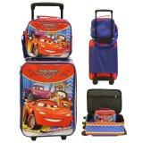 Cuci Gudang Onlan Set Koper Dan Lunch Bag Anak Bahan Sponge Tahan Air Motif Gambar Mobil Merah
