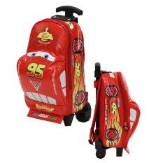 Ulasan Onlan Tas Trolley Anak Sekolah Play Group Bentuk Mobil Racing Red