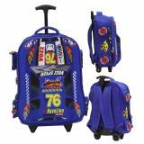 Spesifikasi Onlan Cars Racing F76 Soft Hard Cover Tas Trolley Anak Sekolah Sd Import Blue Dan Harganya