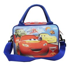 Harga Hemat Onlan Cars Tas Travel Lunch Bag Anak Tali Selempang Bahan Kanvas Biru