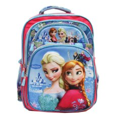 Review Tentang Onlan Disney Frozen 3D Timbul Ransel Big Bag Sch**L 5 Resleting Rainbow Import Pink