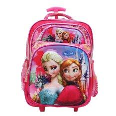Spek Onlan Disney Frozen 3D Timbul Tas Trolley 5 Kantung Besar Import Pink Onlan