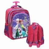 Jual Onlan Disney Frozen 5D Timbul Tas Trolley Anak Sekolah Sd Ada 3 Kantung Import Pink Branded Murah