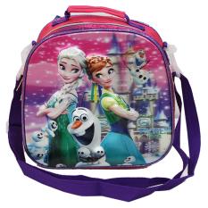 Ulasan Lengkap Tentang Onlan Disney Frozen Fever 5D Timbul Hologram Lunch Bag Tas Bahu Selempang Ransel Purple