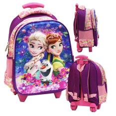 Beli Barang Onlan Disney Frozen Fever 5D Timbul Hologram Tas Trolley Ukuran Anak Sekolah Tk Import Pink Online