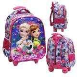 Harga Onlan Disney Frozen Fever 5D Timbul Hologram Tas Trolley Ukuran Anak Sekolah Tk Import Baru Murah