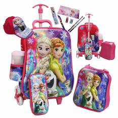 Jual Onlan Disney Frozen Fever Beautiful 6D Timbul Tas Trolley Anak Sekolah 4In1 Set 6 Roda Gagang Samurai Almunium Stell Dan Set Alat Tulis Topi Cantik Pink Onlan Online