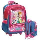 Jual Onlan Frozen Pita Renda Tas Trolley Anak Sekolah Ukuran Besar Sd Pink Biru Onlan Original
