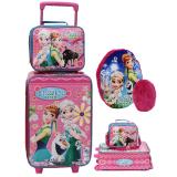 Harga Onlan Set Koper Dan Lunch Bag Anak Bahan Sponge Tahan Air Dan Bantal Sandaran Anak Pink Blue Asli