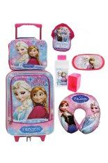 Toko Jual Onlan Disney Frozen Set Koper New Ariival Lunch Bag Anak Pink Biru