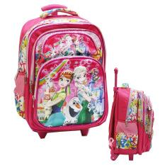 Dapatkan Segera Onlan Frozen Fever 5D Timbul Hologram Tas Trolley Anak Sekolah Sd Kantung Besar Import Pink