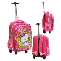 Harga Onlan Hello Kitty 5D Timbul Anti Gores Tas Trolley Stainless Steel Anti Karat Ukuran Besar Sd Import Pink New
